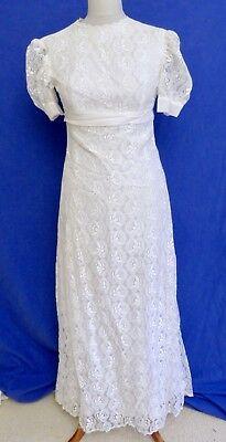 schönes Vintage Brautkleid aus Spitze 60er / 70er Jahre