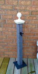 Porch Post with cast iron base and hook