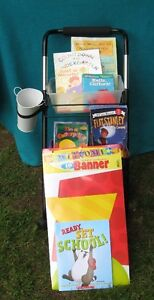 Two Tier Mobile File Cart and books for Jk/Sk- Grade 6
