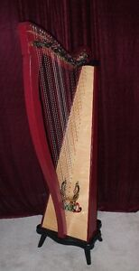 Dusty Strings Burgundy Ravenna 34 Harp