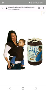 Chocolate brown miby wrap baby carrier