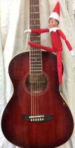 Like new Ibanez Parlor Guitar with Electric Pickup PN12E-VMS