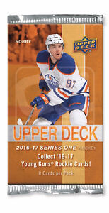 2016-17 Upper Deck Series 1 Hockey Hobby Trading Cards Box Kitchener / Waterloo Kitchener Area image 2