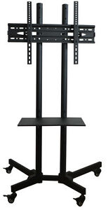 TV Cart for LCD LED Plasma Flat Panels Stand with Wheels #160717