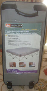 FOLDING QUEEN SIZE BED IN A BAG