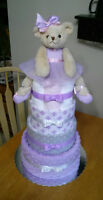 Welcome the New Baby in your life with a DIAPER CAKE