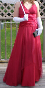 Red and White Polka Dot Prom Dress (Price Reduced!)