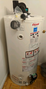 Giant 50 gallon power vent gas water heater