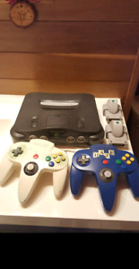 Nintendo 64 with 2 Controller and all Cables