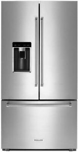 "KitchenAid KRFC704FSS 36"" Counter-Depth French Door Refrigerator"