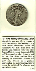 S-Mint Walking Liberty Half Dollar Coin (1940) West Island Greater Montréal image 1