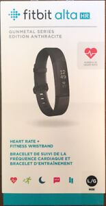 Fitbit Alta HR - Special Edition Black/Steel - Large - New