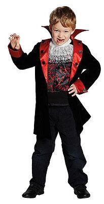 Graf Dracula Vampirkostüm für Kinder NEU - Jungen Karneval Fasching Verkleidung