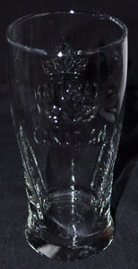 Embossed Canadian Pint Beer Glasses