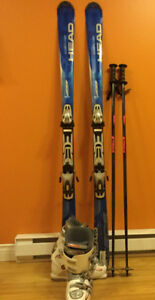 Head ski package - skis, poles and women's size 10 boots