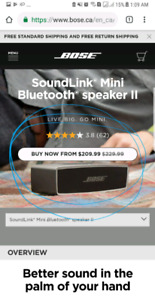 Bose soundlink mini 2 ( only 199 at costco  & online at bose)