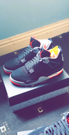1d94f5d98011 Jordan 4 Black Cement (BRED) Brand New