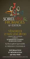 VINS & FROMAGES, 27 MAI 2016 - LEVÉE DE FONDS - BOIS-DES-FILION