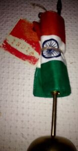 Indian flag on brass stand brand new $10 retail$24.99