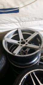 Bmw 5x120 r19 j9 wheels no tyres need refurb