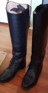 Leather field boots