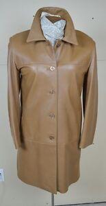 Novella Lamb Leather Coat Caramel Coloured Chic Style