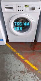Bosch 7kg washing machine free delivery in Nottingham
