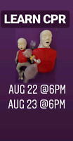 CPR. BLS GET CERTIFIED ON 22 AUG 6PM IN BRAMPTON