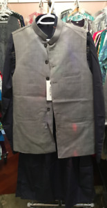 Mens Shalwar suits and waist coats in various sizes.