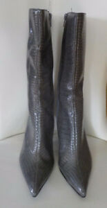 MICHAEL ANTONIO GREY SNAKE MID CALF BOOTS - BRAND NEW SZ 8.5