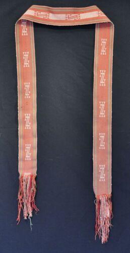 """Navajo Sash 94"""" x 4"""" c.1920"""
