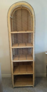 Wicker Shelving Unit or Bookshelf