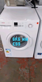 Bosch 6kg washing machine free delivery in Nottingham