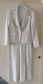 White cotton/linen mix suit