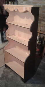 5ft high_Hand Made Real Wood Bookcase / Plate Display Stand