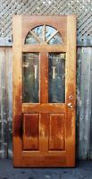 Magnifique porte d'extérieur vitrée en bois massif (chêne)