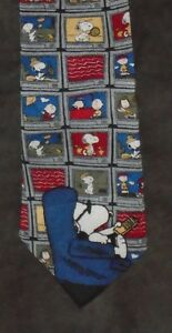 COLLECTIBLE SNOOPY TIE PEANUTS COUCH POTATO CHANNEL SURFING