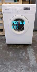 New hisense 7kg washing machine free delivery