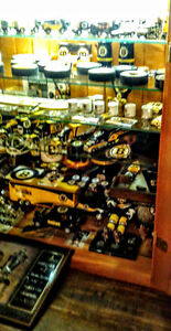 Boston Bruins collection and cabinets