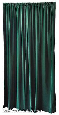 84 inch H Dark Forest Green Home Living Room Window Velvet Curtain Panel Drape