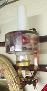 ★ 1970's BUDWEISER Wall Sconce Lamps ★