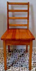Old Vintage NATURAL Solid Wood ACCENT Kids Chair Antique