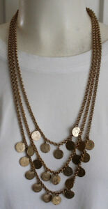 Stella and Dot Rio Triple Strand Coin Necklace Gorgeous!