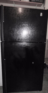 GE Profile Black Fridge with Ice Maker and Water Line