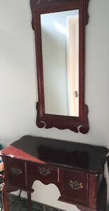 Miroir et bureau d'entrée, hall mirror and little dresser