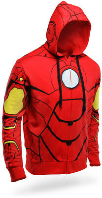 Iron Man Kostüm Hoodie (Avengers Infinity War Iron Man Hoodie Tony Stark Marvel Comics New Size Large )