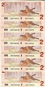 1986 Consecutive $2 Bills