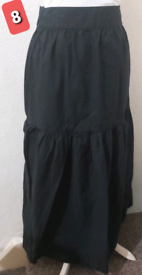 Long black gypsy skirt size 8 summer