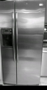 Stainless steel GE  ice water dispenser fridge
