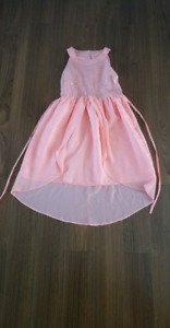 Girls size 14 dress coral sequin